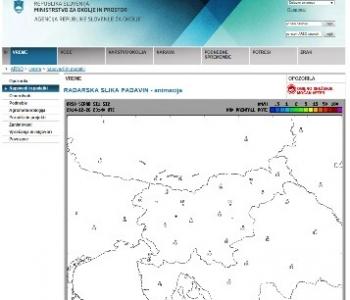 ARSO-Radarska slika padavin